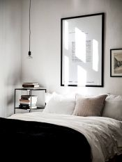 Simple tips for low budget bedroom makeover with classy curtain design and inspiring reading spot. Bedroom Makeover Idea Part 38