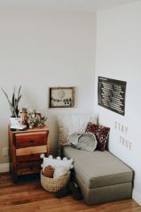 Simple tips for low budget bedroom makeover with classy curtain design and inspiring reading spot. Bedroom Makeover Idea Part 42