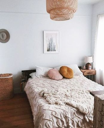 Simple tips for low budget bedroom makeover with classy curtain design and inspiring reading spot. Bedroom Makeover Idea Part 45