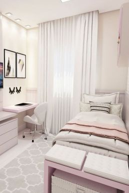 Simple tips for low budget bedroom makeover with classy curtain design and inspiring reading spot. Bedroom Makeover Idea Part 57
