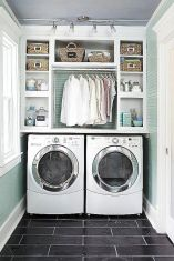 55 Best Small Laundry Room Photo Storage Ideas (15)