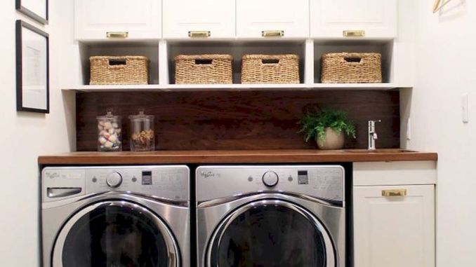 55 Best Small Laundry Room Photo Storage Ideas (24)