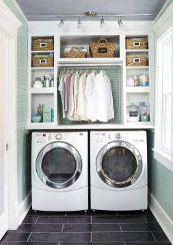 55 Best Small Laundry Room Photo Storage Ideas (26)