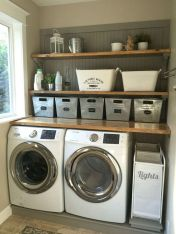 55 Best Small Laundry Room Photo Storage Ideas (34)