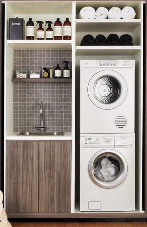 55 Best Small Laundry Room Photo Storage Ideas (45)