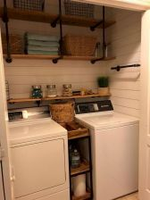55 Best Small Laundry Room Photo Storage Ideas (50)