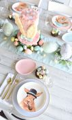 Charming Easter centerpieces and springy table decor ideas to get your Easter party hopping Part 26