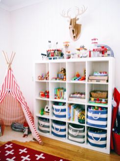 Clever DIY storage and organization ideas are effective for kids playing rooms Part 12