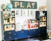 Clever DIY storage and organization ideas are effective for kids playing rooms Part 8