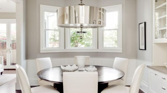Captivating drum pendant light design giving aesthetic accent and value to a mid-century dining room designs - Part 7