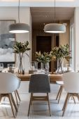 Eyecatching light fixtures above the modernclassic dining rooms Part 24