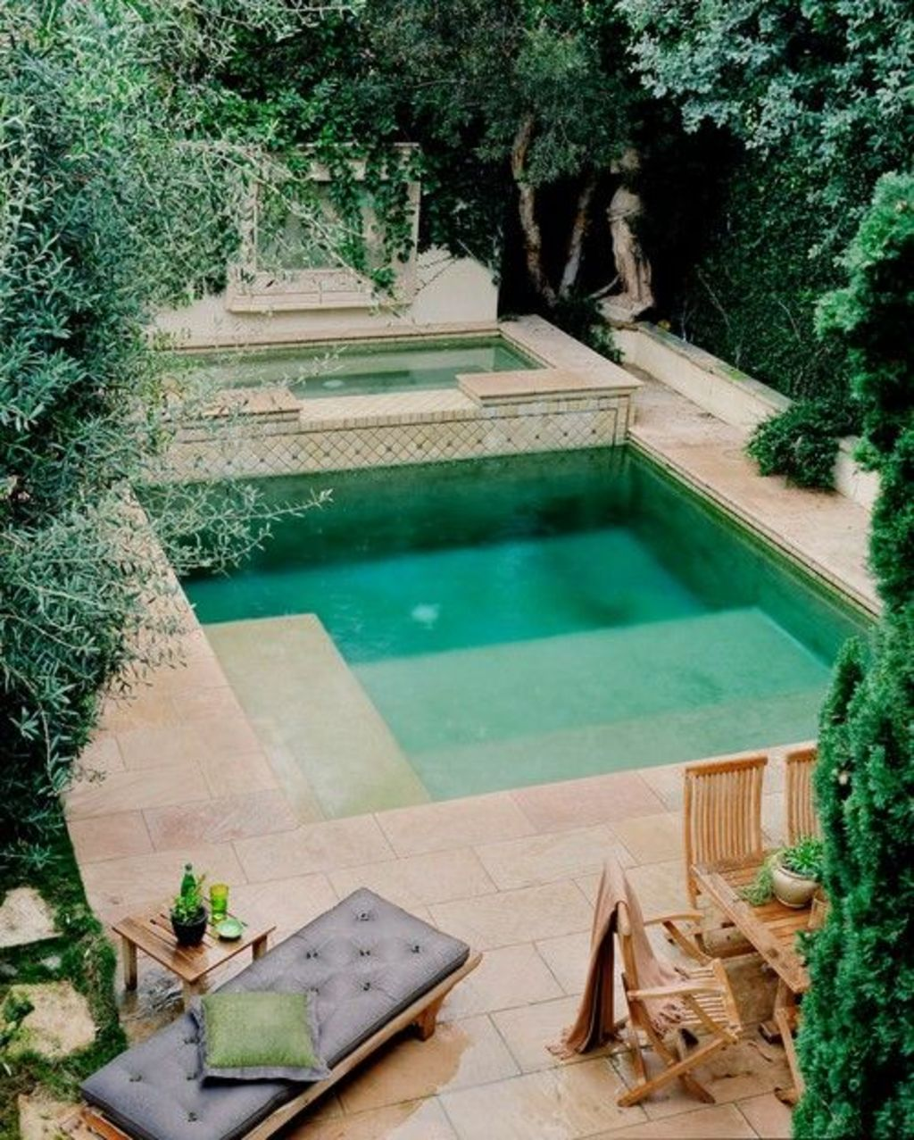 Inground tiny swimming pool in a small backyard that pick the best shape Part 14