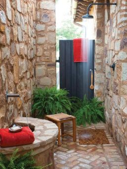 Outdoor showers and bath perfect for beach homes cabins and tropical climates Part 2