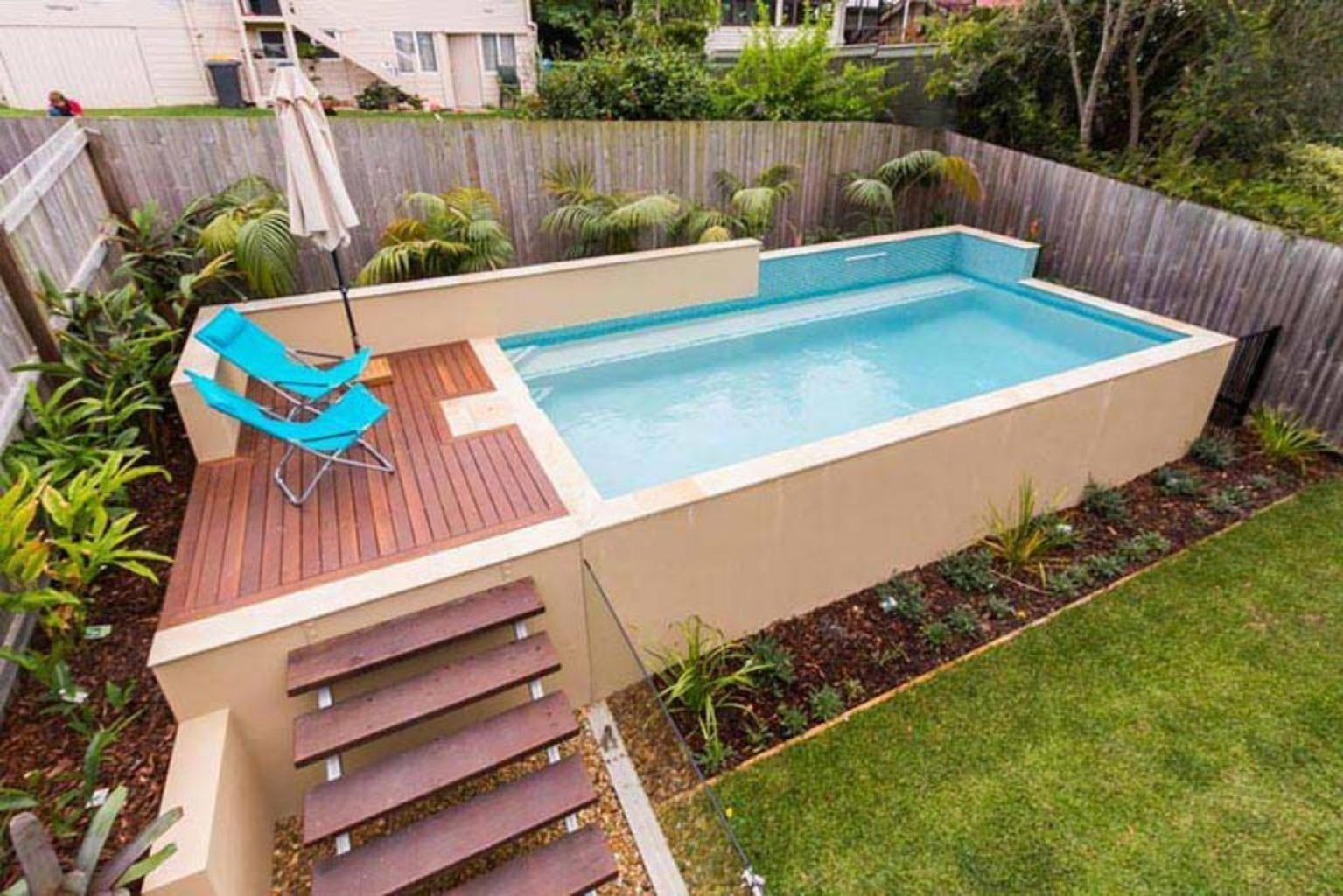 Small swimming pools made for small spaces and tight budgets Part 26
