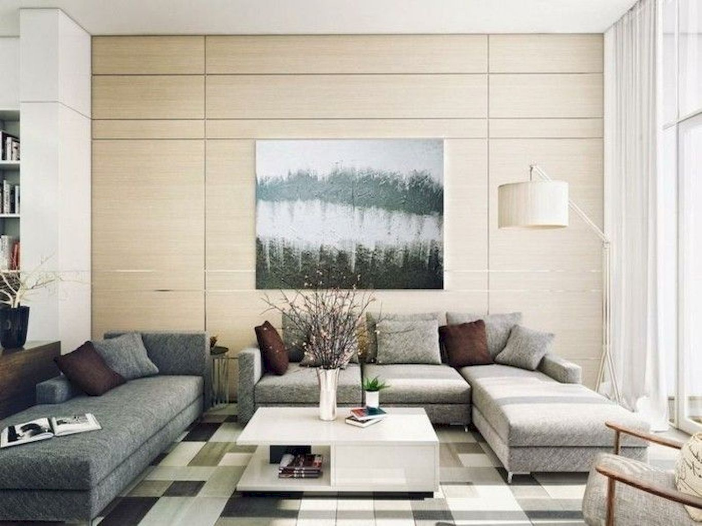 Soft Colored Living Room With Elegant Furniture and Accessories Part 15