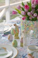 Spring and Easter tablesetting ideas and tablescapes brunch mothers day and springtime table setting ideas Part 19
