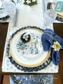 Spring and Easter tablesetting ideas and tablescapes brunch mothers day and springtime table setting ideas Part 9