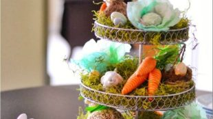 Spring tablesetting ideas with flowers live plants and decoartive eggs best for celebrating the Easter Part 29