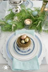 Spring tablesetting ideas with flowers live plants and decoartive eggs best for celebrating the Easter Part 34