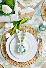 Spring tablesetting ideas with flowers live plants and decoartive eggs best for celebrating the Easter Part 36