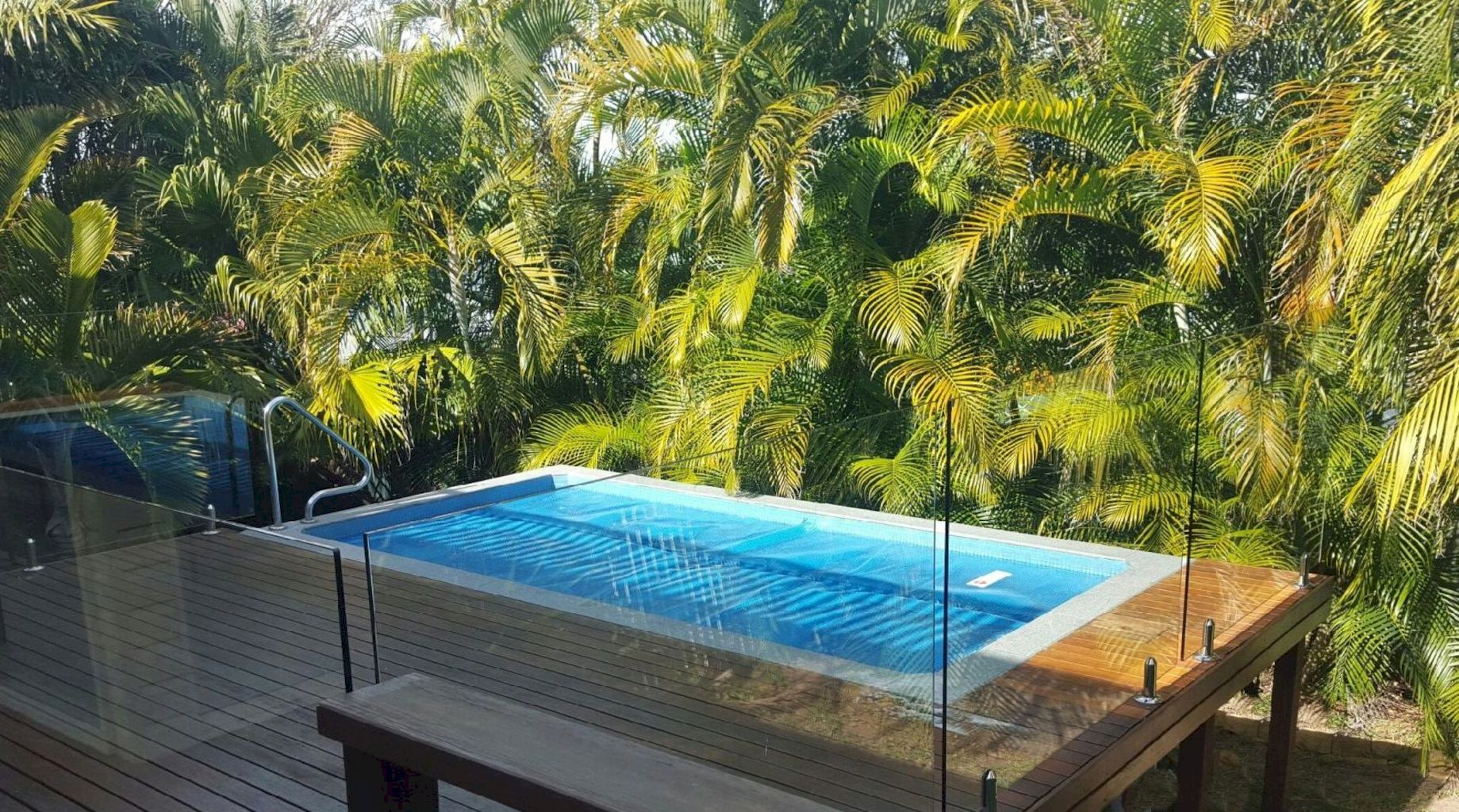 Affordable rectangular pool designs built in small areas that give a lavish look getting along with beautiful landscape (22)