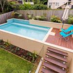 Affordable rectangular pool designs built in small areas that give a lavish look getting along with beautiful landscape (3)