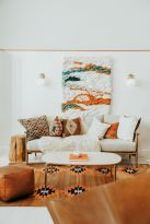 Artistic textile decorations with artsy pattern and print designs amazingly enhance wall display with strong eclectic home style Image 16