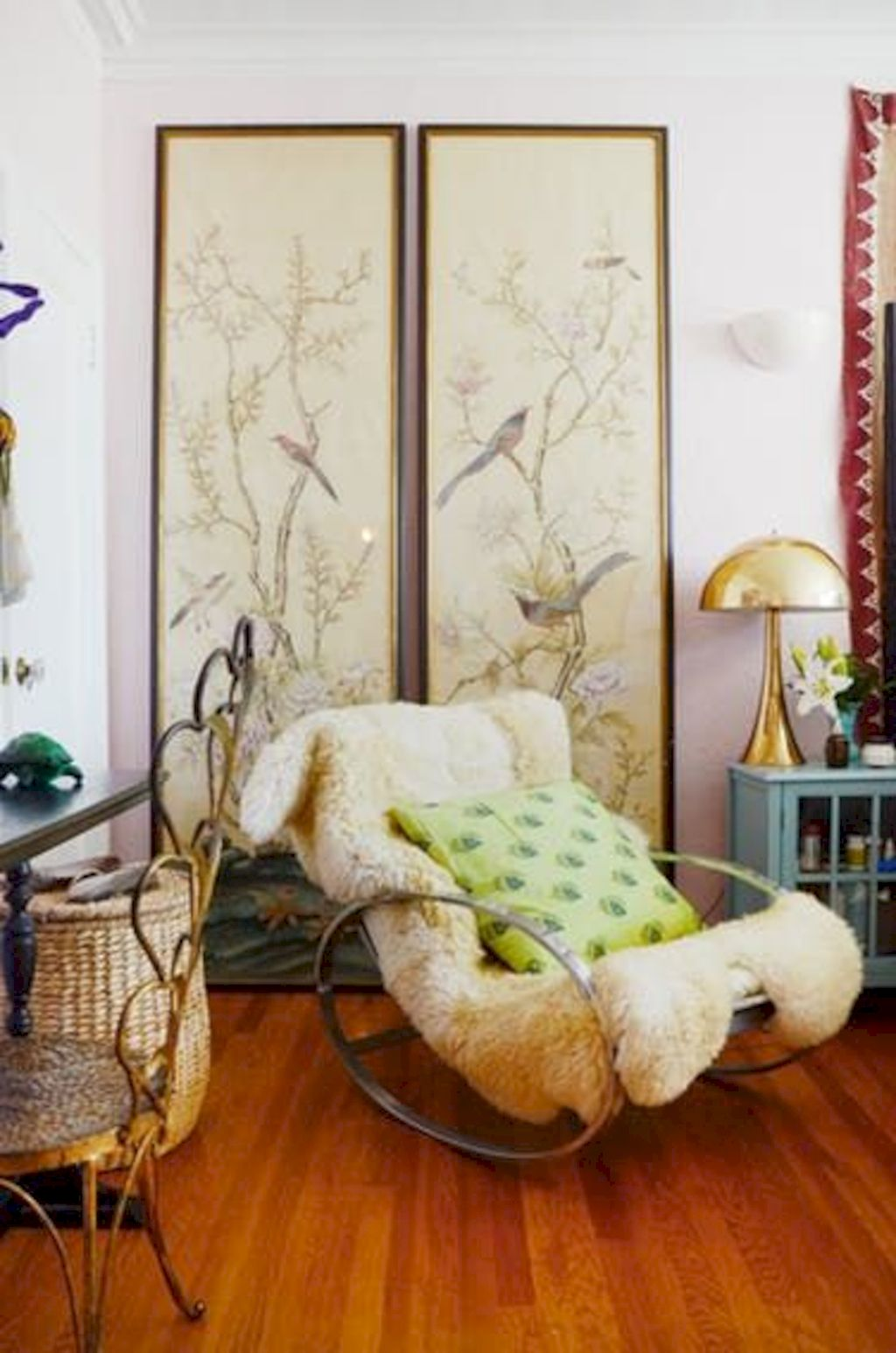 Artistic textile decorations with artsy pattern and print designs amazingly enhance wall display with strong eclectic home style Image 6