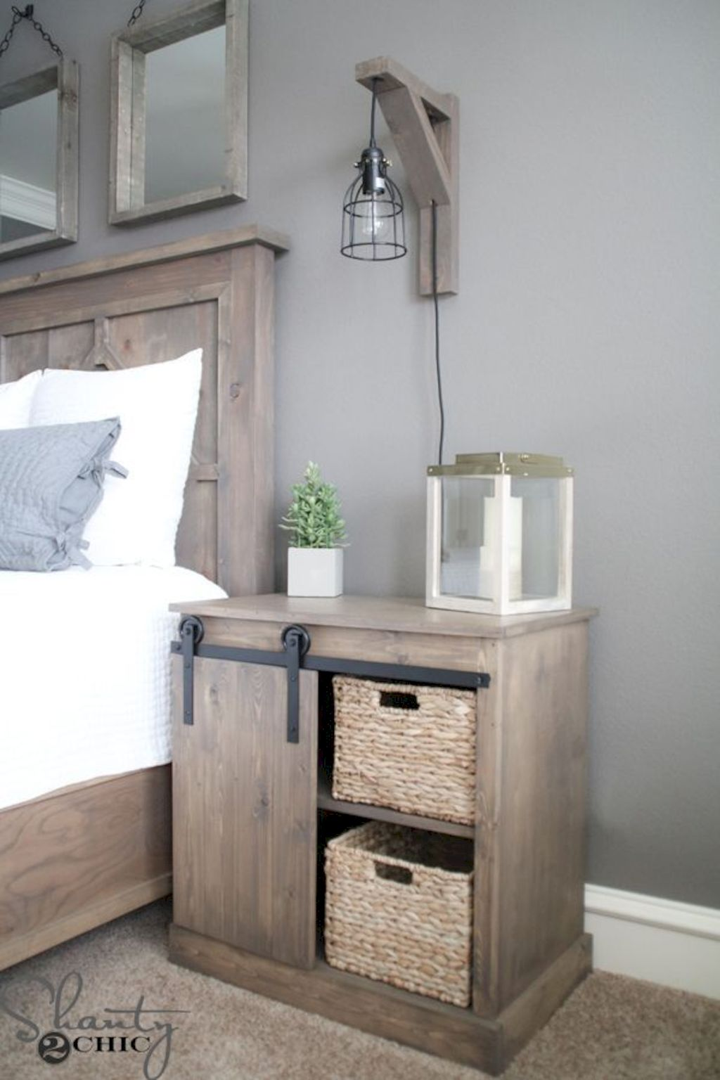 Barn style sliding doors applied as bedroom doors showing a rustic accent in the modern country homes Image 31