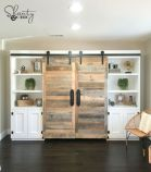 Barn style sliding doors applied as bedroom doors showing a rustic accent in the modern country homes Image 4