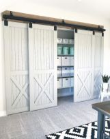 Barn style sliding doors designed to upgrade a rustic look in your farmhouse and rustic home style Image 33