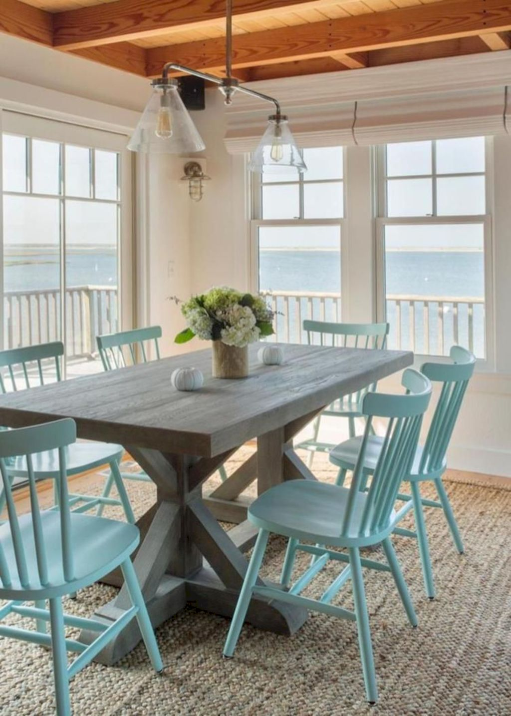 Beach home dining room style giving a fresh vibe among inviting recreational interior update Image 13