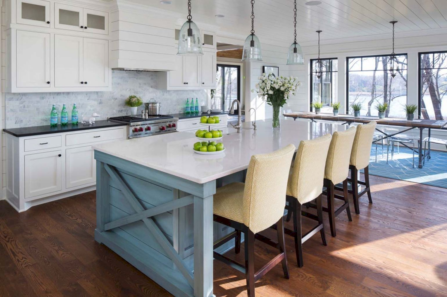 Best kitchen island table combo with an ergonomic design very efficient to improve kitchen functionality Image 3