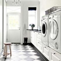 Classy laundry room update with first class finishing to make a functional room that looks elegant and stylish Image 31