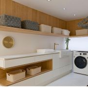 Classy laundry room update with first class finishing to make a functional room that looks elegant and stylish Image 9