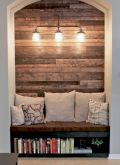 Clever rustic touch exploiting wood pallets wall accent that enhances contemporary home update and also effective in twisting decoration style Image 22