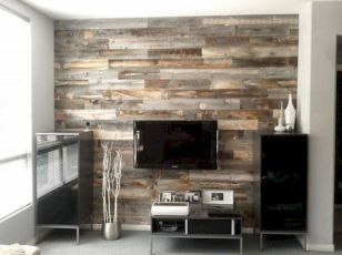 Clever rustic touch exploiting wood pallets wall accent that enhances contemporary home update and also effective in twisting decoration style Image 9