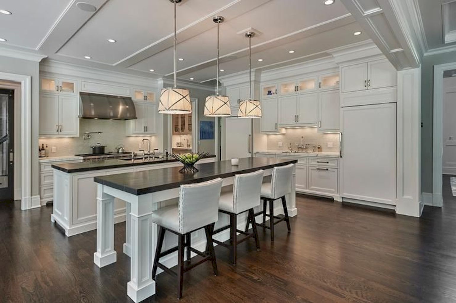 Clever way to add more function in a kitchen with kitchen island table combo providing efficient and effective update for your beautiful kitchen design Image 40