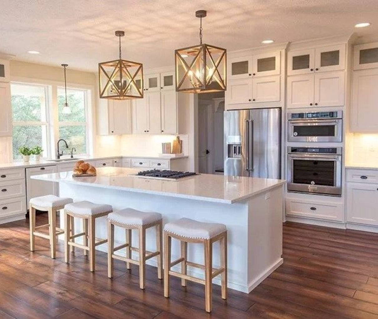 Clever way to add more function in a kitchen with kitchen island table combo providing efficient and effective update for your beautiful kitchen design Image 46