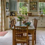 Coastal cottage kitchen style with rustic touching giving a perfect beach house vibes for interior retreat Image 24