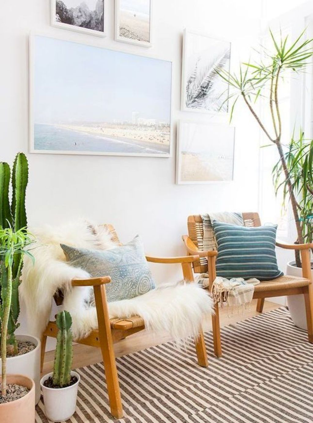 Coastal cottage living area with pure bright schemes outlooking vast sea view giving a complete beach style home Image 14