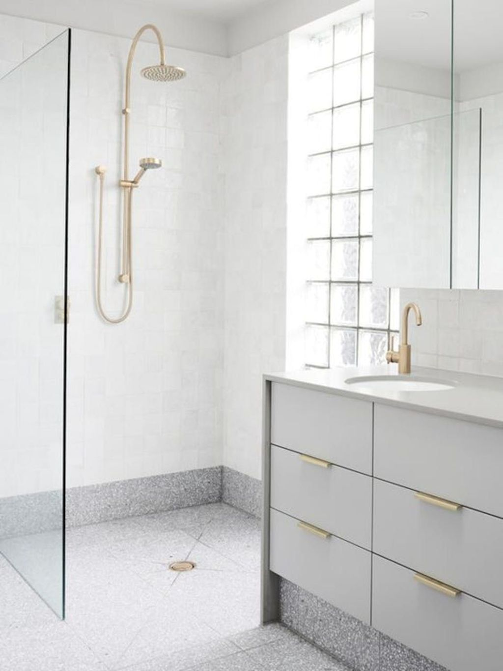 Creative bathroom updates mixing modern trend with simple 60s terrazzo style giving a brilliant contemporary balance Image 11