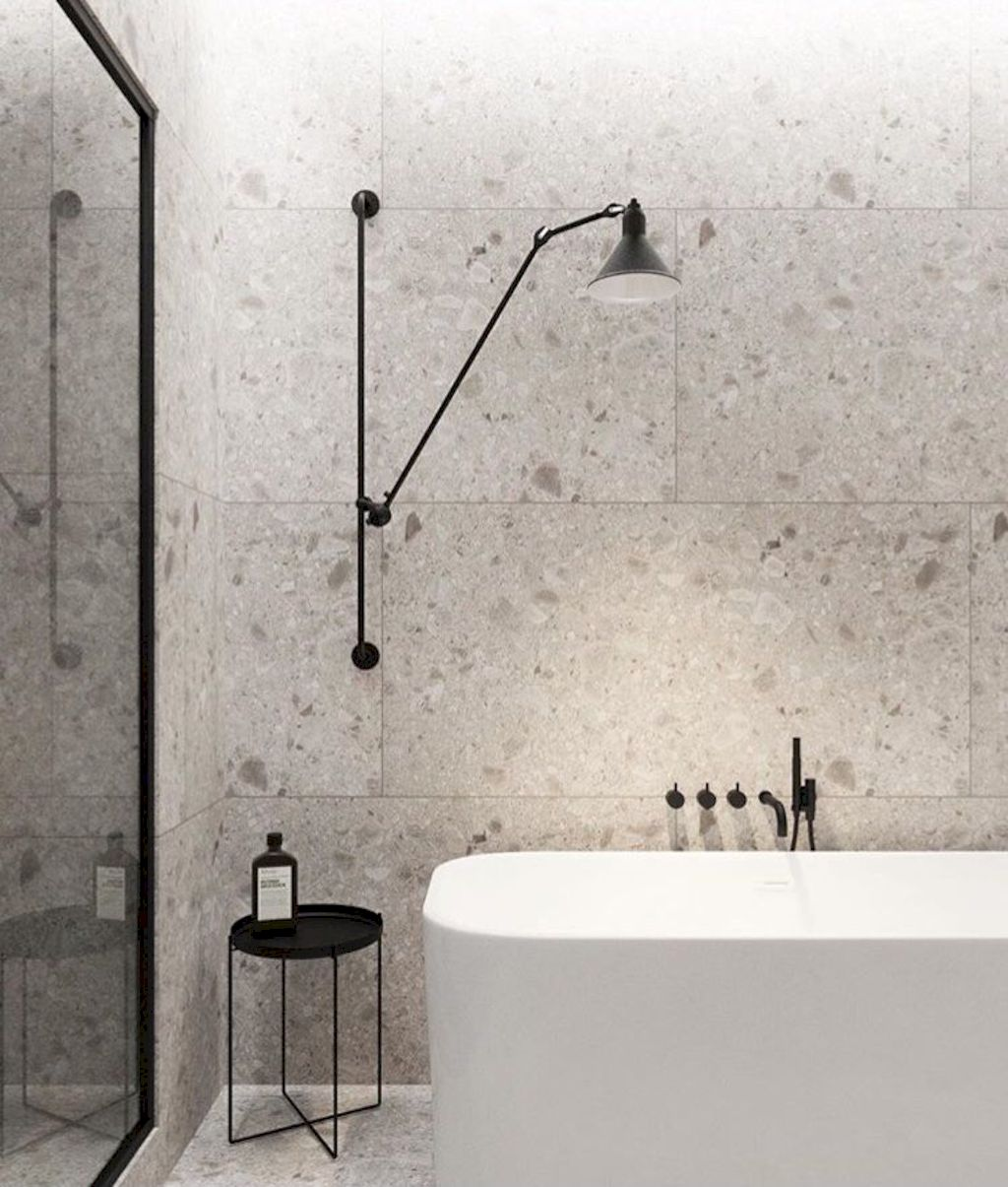 Creative bathroom updates mixing modern trend with simple 60s terrazzo style giving a brilliant contemporary balance Image 22