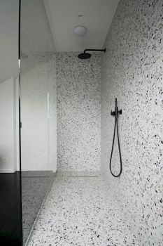 Creative bathroom updates mixing modern trend with simple 60s terrazzo style giving a brilliant contemporary balance Image 3