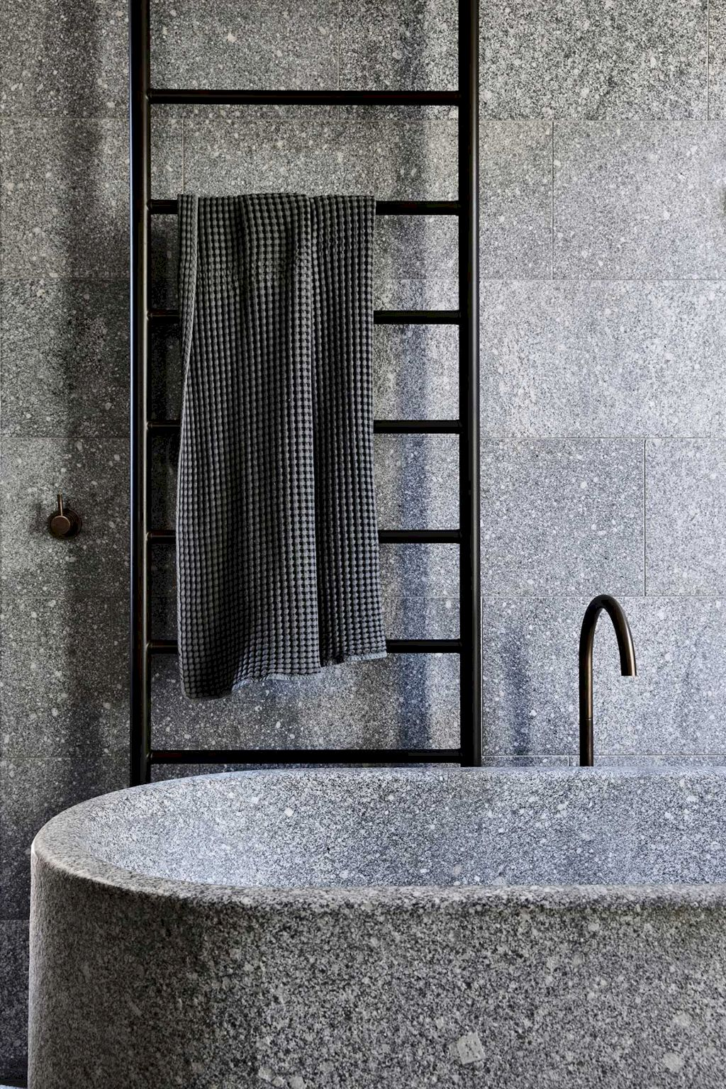 Creative bathroom updates mixing modern trend with simple 60s terrazzo style giving a brilliant contemporary balance Image 7