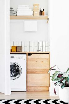Easy tricks to make a Scandinavian style laundry room which will give a perfect refreshment in simple and sleek designs Image 12