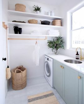 Easy tricks to make a Scandinavian style laundry room which will give a perfect refreshment in simple and sleek designs Image 13