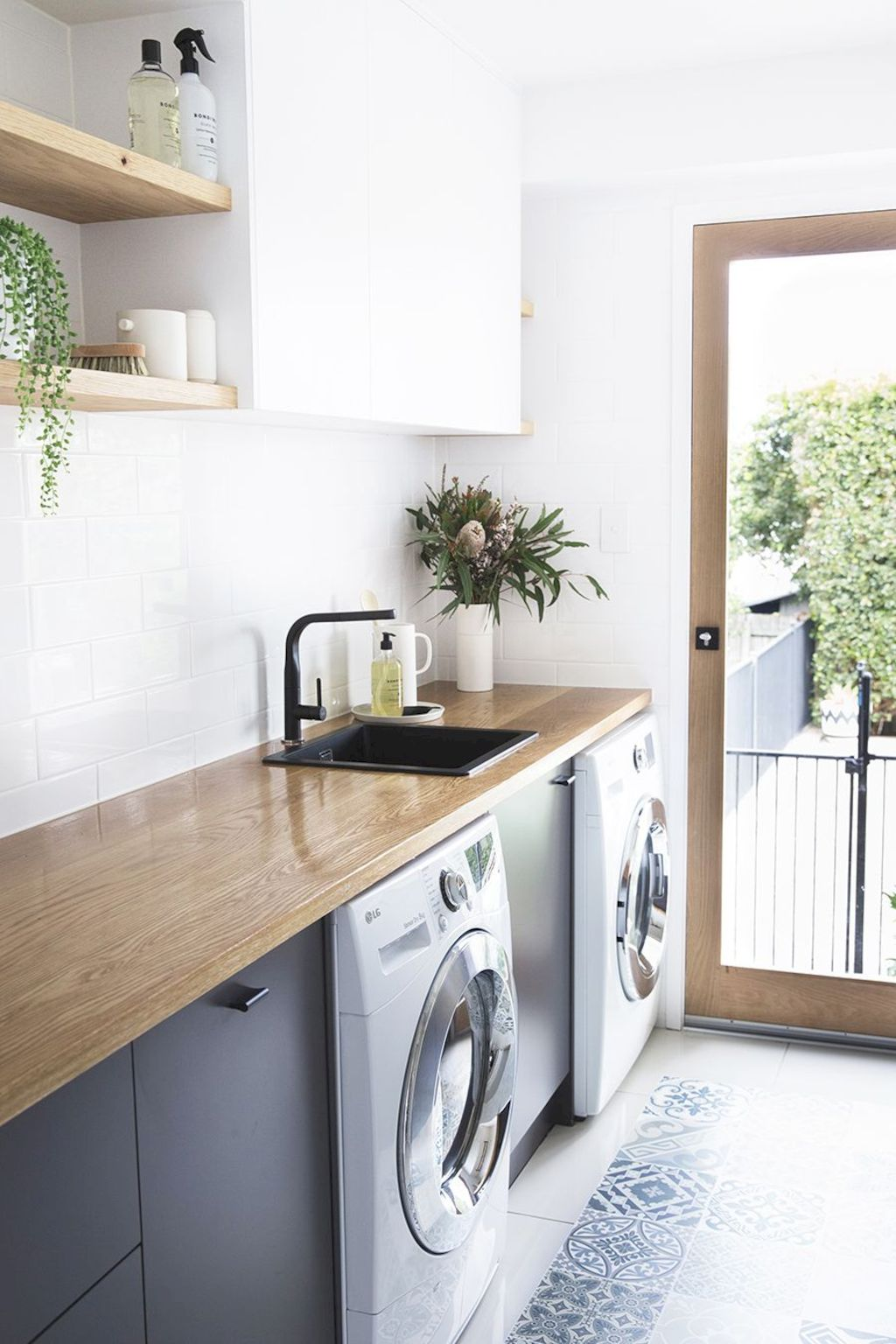 Easy tricks to make a Scandinavian style laundry room which will give a perfect refreshment in simple and sleek designs Image 21