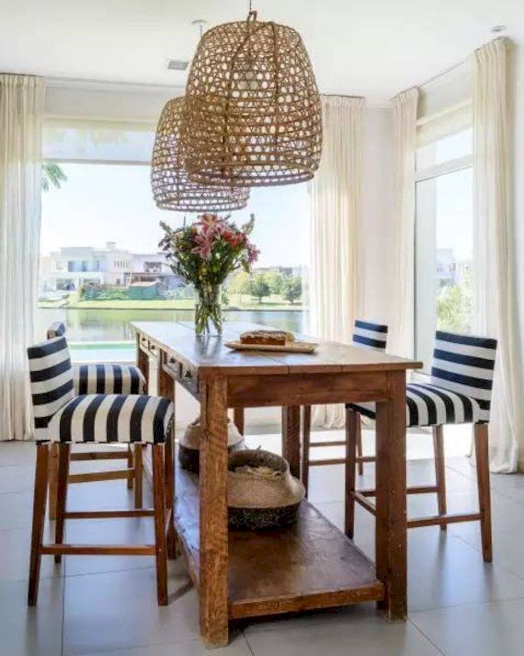 Eclectic home dining room inspired from beach home eating space rich of fresh vibes perfect for a recreational rooms update Image 25