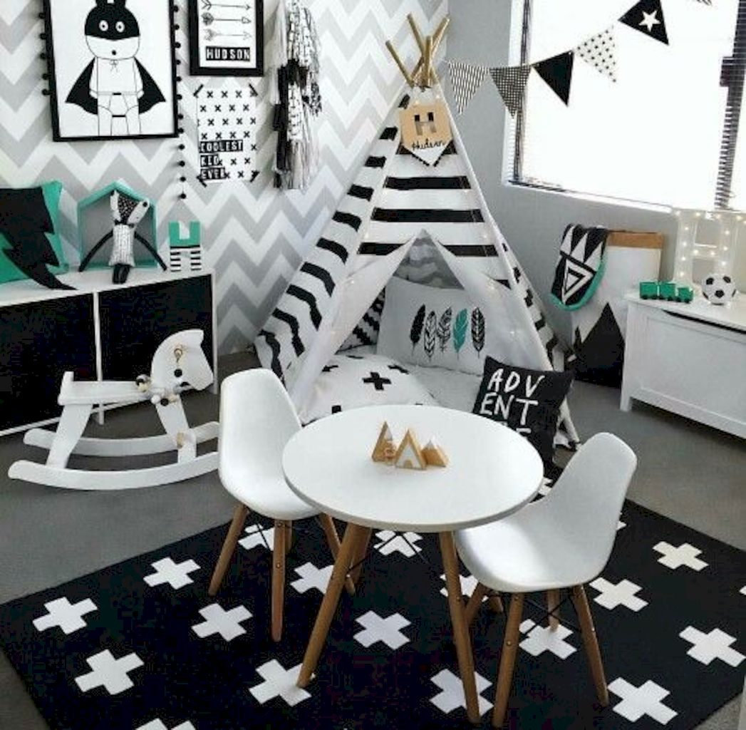 Low budget playrooms for small space showing off inspiring decoration and accessories to provide kiddos special spaces for more kids time Image 24